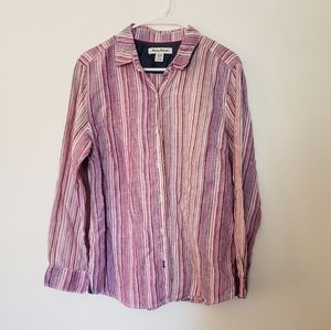 Tommy Bahama pink button-down shirt.